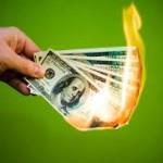 Burning money artistically starving
