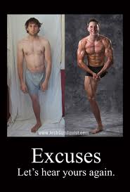 Excuses Before After Weight loss image