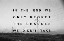 Skeptic We only regret the chances we didn't take image