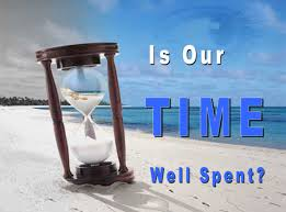 doing is our time well spent hourglass image