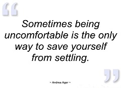Uncomfortable save yourself from settling 2