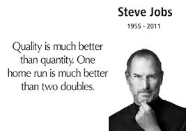 Quality Steve Jobs quote