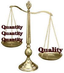 Quality vs Quantity Scale image