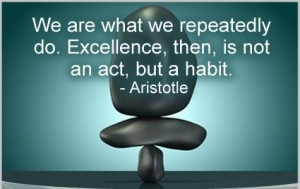 consistency is a habit Aristotle
