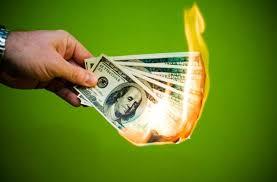 Recordings burning money