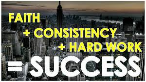 Faith plus hard work equals success