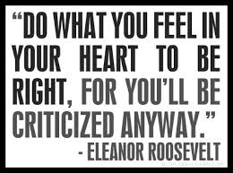 Foolish Eleanor Roosevelt Quote
