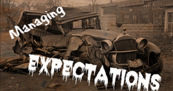 Managing Expectation Vintage Car Accident TEXT