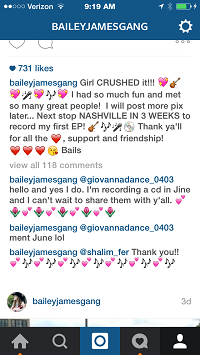 Radio Bailey Instagram