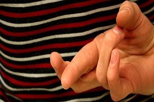 Awareness Fingers Crossed Image