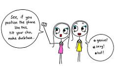 Successful Friends Duckface Cartoon