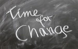 Music Time For Change Chalkboard image