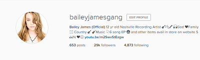 Marketing Right Now Bailey James Gang Instagram 2