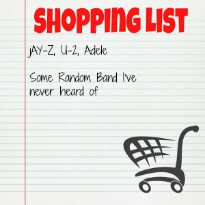 Music Shopping List MEME