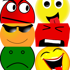 Selling Emotion Emoticon Collage