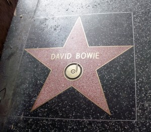 David Bowie Hollywood Star