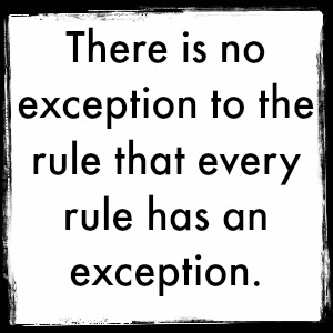 Perception Exception To The Rule