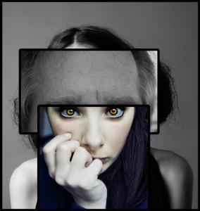Perception Schizophrenic Girl