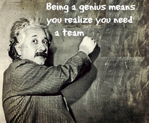 Intention Einstein Genius quote