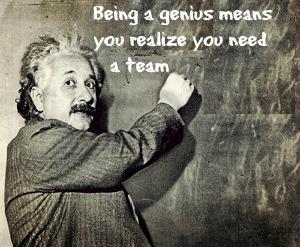 Intention Einstein Genius quote