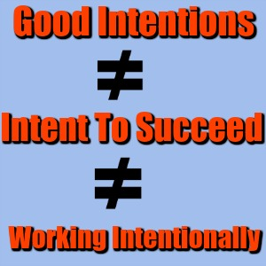 Intention Working Intentionally