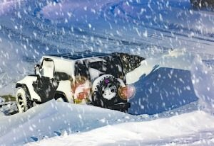 Make Time Jeep Snow PICTURE LIGHTS