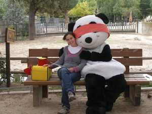 False Victim Blindfolded Panda bear