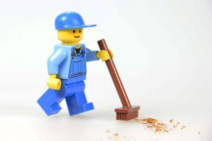 Waiting Worker Lego