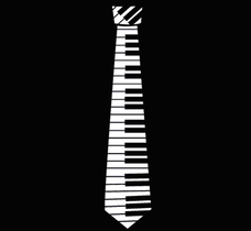 Hero Piano Key Neck Tie