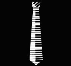 Hero Piano Key Neck Tie