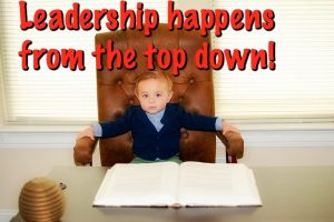 Leadership boy CEO MEME TOP DOWN