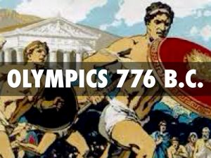 Cure 776 BC Olympics