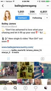 Audience Bailey James Instagram