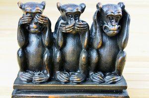 Kindergarten No See Hear or Talk Monkeys