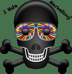 Kindergarten Psychadelic Skull & Bones MEME