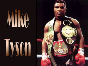 Boxers Mike Tyson