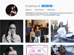 Deal Bhad Bhabie Instagram Account