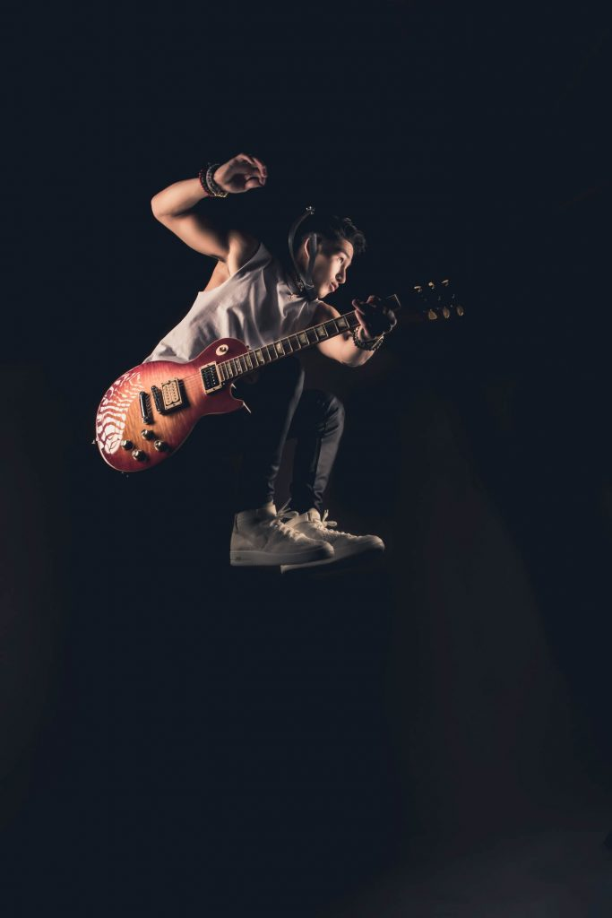 Jacob Cade Jump Shot with Les Paul Guitar