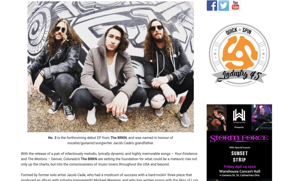 Music Life Magazine interviews Jacob Cade from The BRKN about their new tour with The Dangerous Summer, Arm Akimbo, and Locket